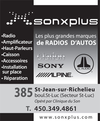 Son X Plus (450-349-4861) - Display Ad