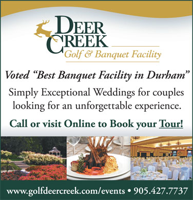 Deer Creek Golf & Banquet Facility (905-427-7737) - Display Ad