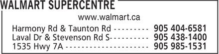 Walmart Supercentre (905-404-9975) - Display Ad - www.walmart.ca