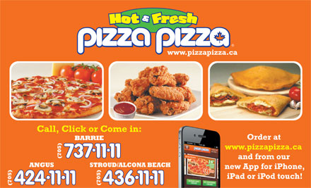 Pizza Pizza (705-737-1111) - Display Ad