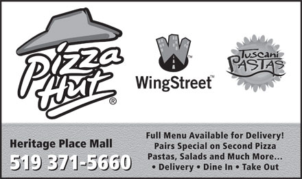 Pizza Hut (519-371-5660) - Display Ad