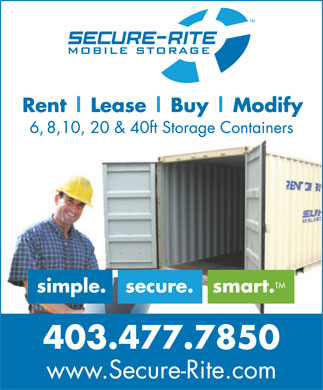 Secure-Rite Mobile Storage (403-817-9930) - Display Ad