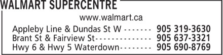 Walmart Supercentre (905-319-3630) - Display Ad - www.walmart.ca