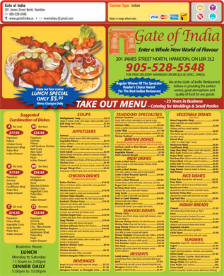 Gate Of India (905-528-5548) - Display Ad