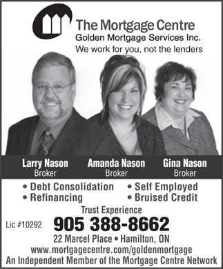 Mortgage Centre The (905-388-8662) - Annonce illustr&eacute;e