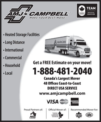 AMJ Campbell Van Lines (1-888-481-2040) - Display Ad