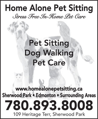 Home Alone Pet Sitting (780-893-8008) - Display Ad