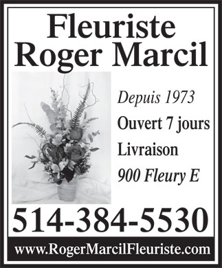 Blume Fleuriste (514-384-5530) - Display Ad