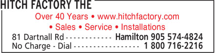 Hitch Factory The (905-574-4824) - Display Ad - Over 40 Years • www.hitchfactory.com • Sales • Service • Installations  Over 40 Years • www.hitchfactory.com • Sales • Service • Installations  Over 40 Years • www.hitchfactory.com • Sales • Service • Installations  Over 40 Years • www.hitchfactory.com • Sales • Service • Installations  Over 40 Years • www.hitchfactory.com • Sales • Service • Installations  Over 40 Years • www.hitchfactory.com • Sales • Service • Installations  Over 40 Years • www.hitchfactory.com • Sales • Service • Installations  Over 40 Years • www.hitchfactory.com • Sales • Service • Installations  Over 40 Years • www.hitchfactory.com • Sales • Service • Installations  Over 40 Years • www.hitchfactory.com • Sales • Service • Installations  Over 40 Years • www.hitchfactory.com • Sales • Service • Installations  Over 40 Years • www.hitchfactory.com • Sales • Service • Installations