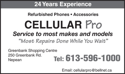 Cellular Pro (613-596-1000) - Display Ad