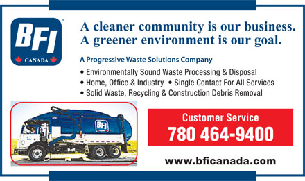 BFI Canada (780-464-9400) - Display Ad