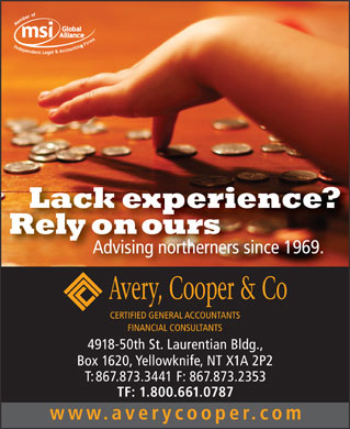 Avery Cooper & Co (867-873-3441) - Display Ad