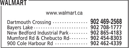Walmart (902-450-5573) - Display Ad - www.walmart.ca