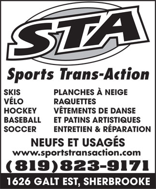 Sports Trans-Action Inc (819-823-9171) - Annonce illustrée