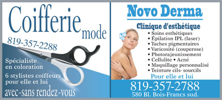 Coifferie Mode Inc (819-357-2288) - Display Ad