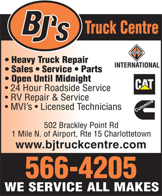 BJ's Truck Centre (902-566-4205) - Display Ad