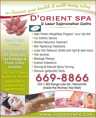 D'Orient Spa (867-669-8866) - Display Ad