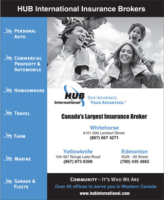 HUB International Insurance Brokers Ltd (867-667-4271) - Annonce illustr&eacute;e