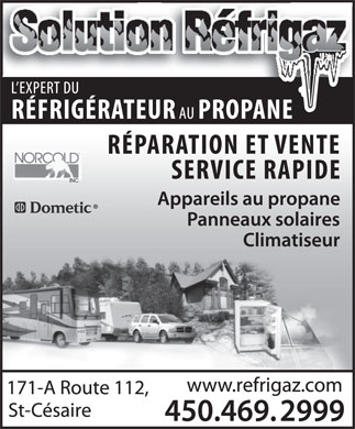 Solution Réfrigaz (450-469-2999) - Display Ad