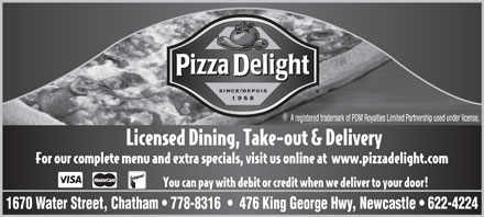 Pizza Delight (506-622-4224) - Display Ad