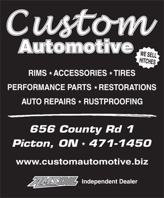 Custom Automotive (613-471-1450) - Display Ad