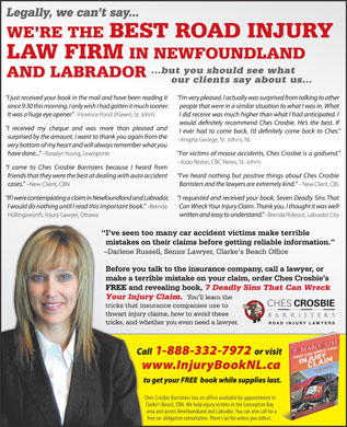 Ches Crosbie Barristers (1-888-579-3262) - Display Ad