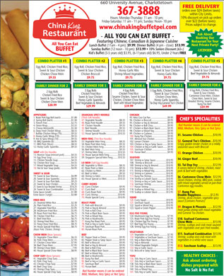 China King Buffet (902-367-3888) - Menu