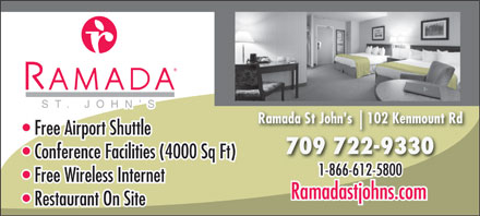 Ramada St John's (1-866-250-2275) - Display Ad