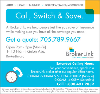 BrokerLink (705-789-9667) - Display Ad