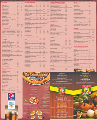 Resto Roberto (418-695-1555) - Menu