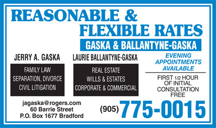 Gaska & Ballantyne (905-775-0015) - Display Ad