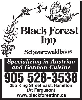 Black Forest Inn (905-528-3538) - Display Ad