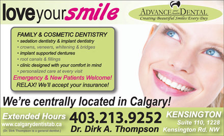Advance Your Health Dental (403-798-0947) - Annonce illustrée