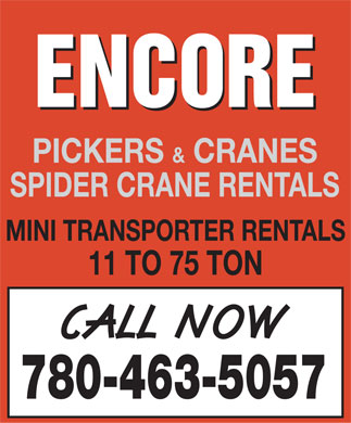Encore Trucking & Transport (780-463-5057) - Display Ad