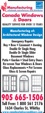 Canada Windows & Doors (905-665-1506) - Display Ad