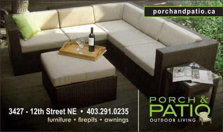 Porch & Patio (403-291-0235) - Display Ad