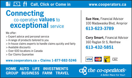 The Co-operators (613-623-3789) - Display Ad