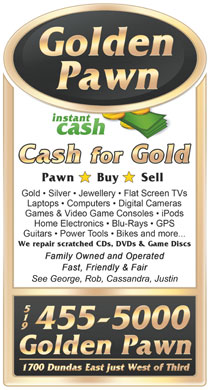 Golden Pawn (519-455-5000) - Display Ad