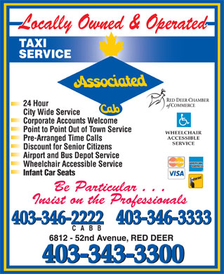 Associated Cab (403-343-3300) - Display Ad
