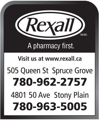 Rexall (780-962-2757) - Display Ad