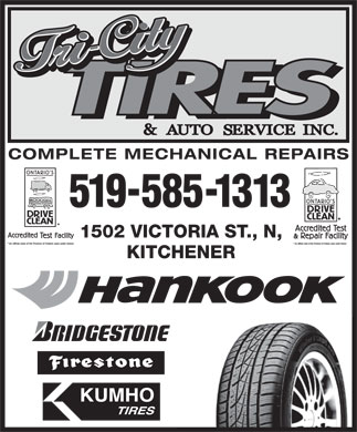 Tri-City Tire And Auto (519-585-1313) - Display Ad