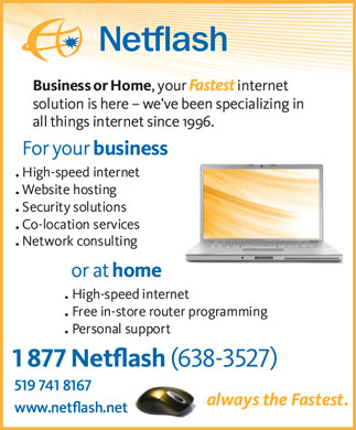 Netflash Internet Solutions (519-741-8167) - Display Ad