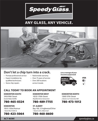 Speedy Glass (780-465-0324) - Display Ad