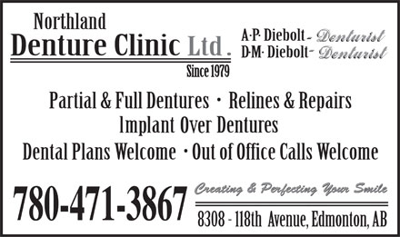Northland Denture Clinic Ltd (780-471-3867) - Display Ad