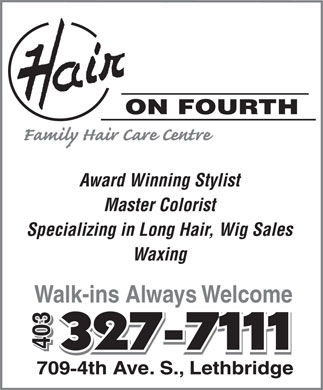 Hair On Fourth (403-327-7111) - Annonce illustrée