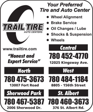 Trail Tire Auto Centers (780-412-1690) - Display Ad