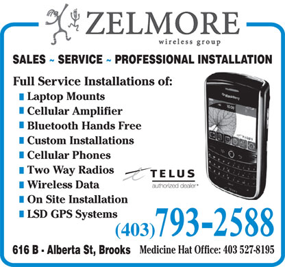 Zelmore Wireless Group (403-793-2588) - Annonce illustrée