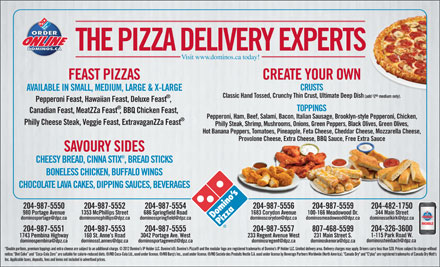 Domino's Pizza (204-987-5550) - Display Ad