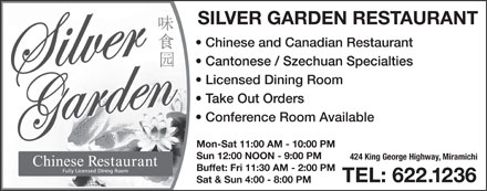 Silver Garden Restaurant (506-622-1236) - Display Ad