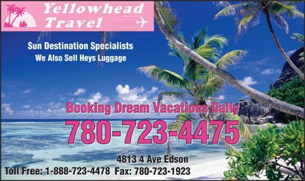 Yellowhead Travel (780-723-4475) - Annonce illustrée